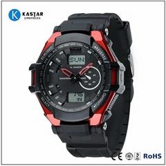 world dual time men digital watch sport fashion watch