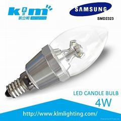 新款4WLED蠟燭燈韓國三星2323芯片