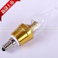 Dimmable E14 E27 E12 B22 4W LED Candle Light LED bulb lamp 3