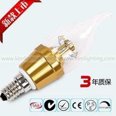尖泡拉尾泡E14螺口節能單燈LED光源