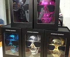 2015 hot sale skull bluetooth speaker