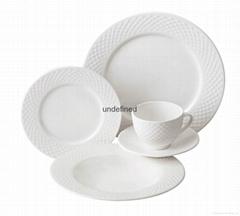 20pcs porcelain embossed dinner set