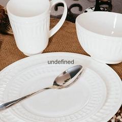 16pcs new bone china embossed dinner set