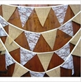 Rustic Hessian lace bunting  home banner garland rustic weddings country bar