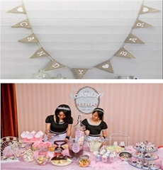 "New arrival ""Candy Bar'"" Hessian Burlap Bunting Vintage Affair Birthday decor/ W"