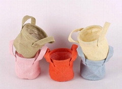 zakka Home decoration vintage wedding flower pots burlap sacks/ jute bags /water