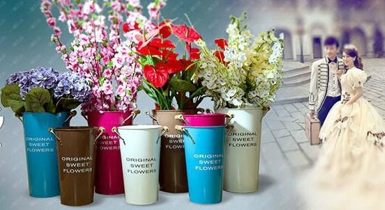 decorative flower vases for wedding and home / tall metal vase /tall wedding vas 1