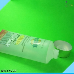 High quality 2014 Factory offer cosmetic clear plastic tubes with screw caps