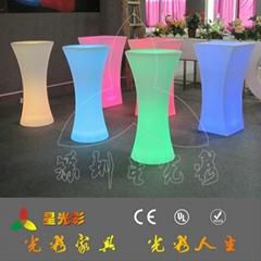 七彩变色LED发光家具鸡尾酒桌
