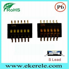 6 Position 1.27mm half pitch SMT type dip switch