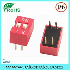 Slide Actuated Micro Dip Switch 1- 2 Positions