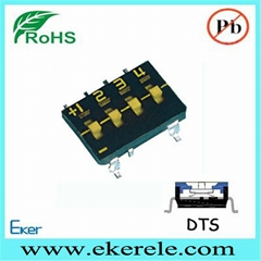 Dip Switch Tri-State SMD Type Top Tape Sealed