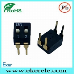 A6D-2103 IC Type Dip Switch 2 Position Thru Hole