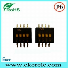 Miniature SMT Switch Half Pitch1.27mm 1-12 Positions