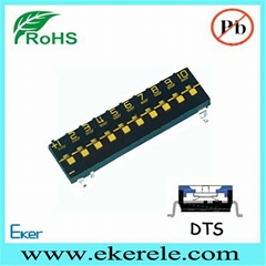 DTS Series 10 Position Tri-State DIP Switch SMD SMT DIP Switch