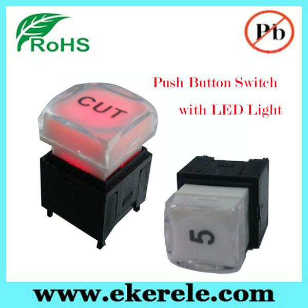 Full Color LED Illuminated Available 25mm LED Push Button Switch 4