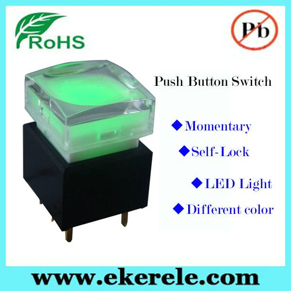 Full Color LED Illuminated Available 25mm LED Push Button Switch 3