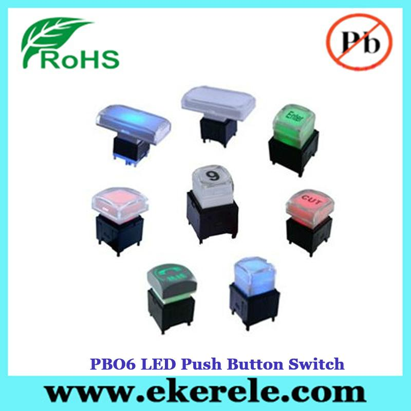 Full Color LED Illuminated Available 25mm LED Push Button Switch 5