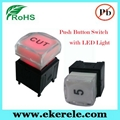 IP65 Protection Level Momentary LED Push Button Switches With LED Light 3
