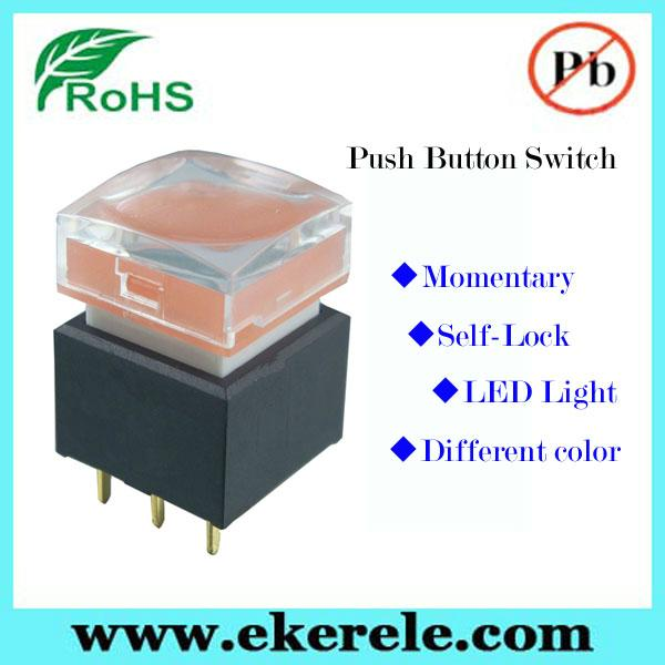 IP65 Protection Level Momentary LED Push Button Switches With LED Light 4