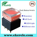 IP65 Protection Level Momentary LED Push Button Switches With LED Light 5