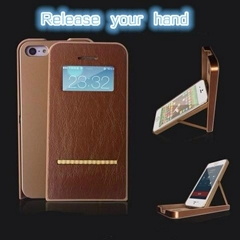 brand new flip leather phone case with stand for iphone 5/5s