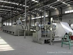 Heat setting stenter machine for knit or woven