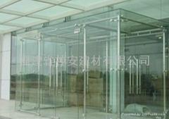 【福建玻璃廠】定做各種尺寸大廈 辦公室大門鋼化玻璃(歡迎來訂購)