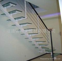 【福建玻璃厂】定做户外楼梯护栏钢化玻璃(欢迎来订购)