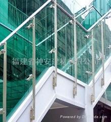 【福建玻璃廠】高品質鋼化玻璃 可定做戶外樓梯護欄鋼化玻璃