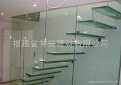 【福建玻璃廠】供應高品質鋼化玻璃 樓梯護欄鋼化玻璃
