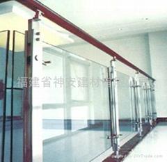 【福建玻璃廠】供應各種樓道護欄鋼化玻璃