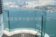 【福建玻璃廠】供應各種 建築工程鋼化玻璃,陽台護欄玻璃