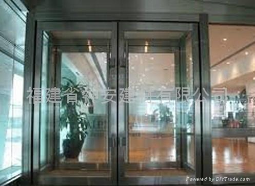 【福建玻璃廠】定做生產防火玻璃,大會堂防火玻璃門 1