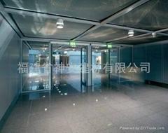 【福建玻璃廠】供應防火幕牆, 大尺寸防火玻璃門