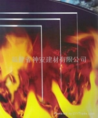 Factory Supply Heat insulation type Fire Glass