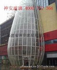 双曲面球形钢化夹胶玻璃