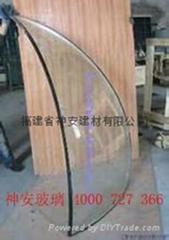 双曲面球形钢化中空玻璃