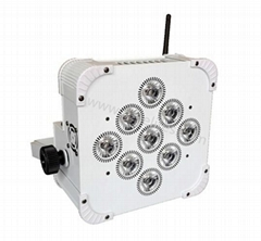 dmx512 power 9*18W RGBWAUV 6in1 parcan