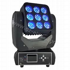 9*12W Super beam led moving head light,RGBW 4in1 mini stage light