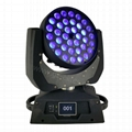 RGBWAUV 6in1 led zoom wash 36*18W moving