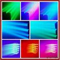 5*15W 四合一LED光束點控投光燈 2