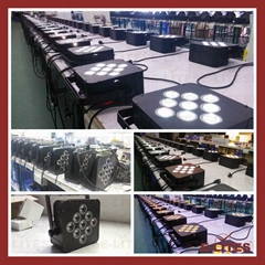 9*18W wireless DMX, remote control, battery led par light