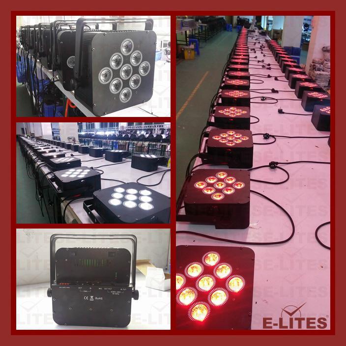 9*18W wireless DMX, remote control, battery led par light 2
