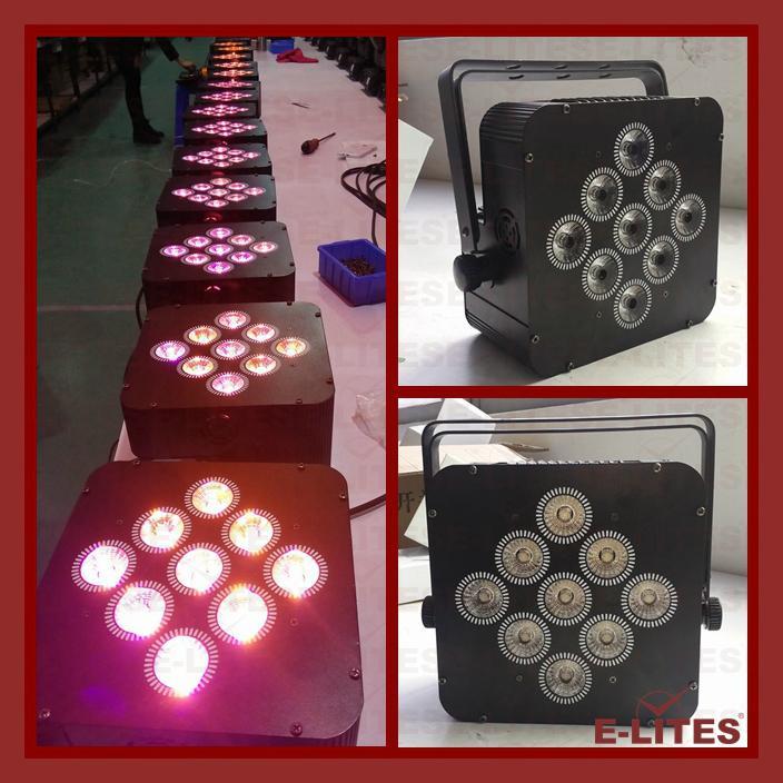 9*18W wireless DMX, remote control, battery led par light 3
