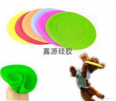 寵物狗玩具硅膠飛盤