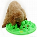 silicone slow feeder pet dog bowl