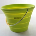 folding silicone ice bucket collapsible water barrel