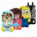 3D Cartoon Animal Shaped silicone mobile phone case