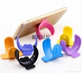 touch-u silicone cell phone stand card holder